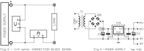 Digital Volt Ampere Meter Circuit Diagram The