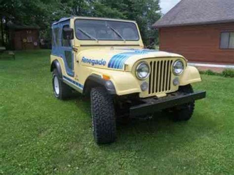 cj jeep yellow jeep cj 1979 5 renegaderare color saxon yellow with