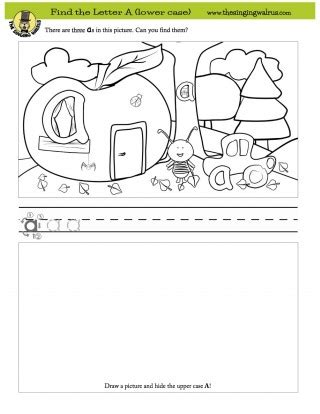 Find The Letter Worksheets  The Singing Walrus