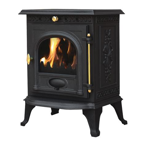 Ja014 65kw Cast Iron Log Burner Modern Multifuel Wood Burning Stove Woodburner Ebay