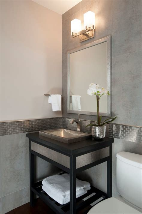 marble wainscoting powder room transitional  marble