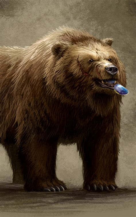 brown bear eating sunglasses illustration android