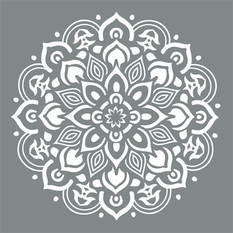 Americana Area Rugs by Decoart Americana Decor 10 In X 10 In Mandala Stencil