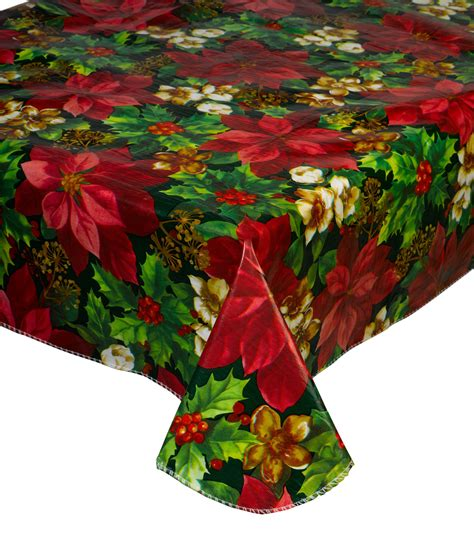 christmas pvc tablecloth flannel  festive xmas dining