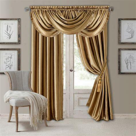 gold draperies elrene versailles faux silk blackout window curtain