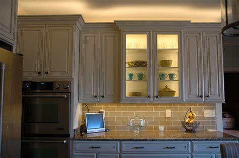 kitchen glass cabinet lighting installing lighting on a glass cabinet inspiredled blog