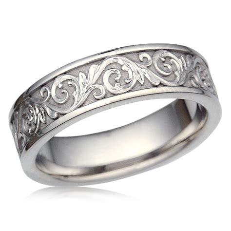 wedding ring symbol of eternity western floral eternity symbol wedding band