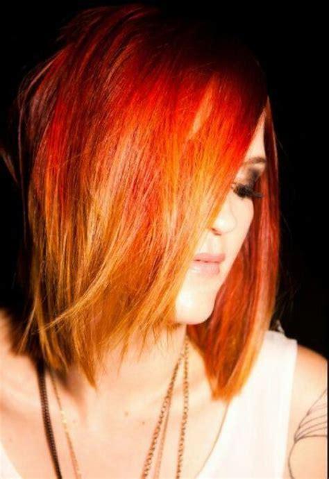 Redorange Ombre Beauty Hair Color
