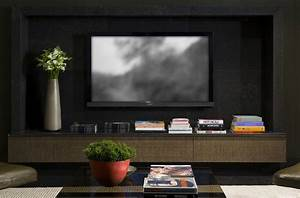 contemporary interior project 910 by kiko salomagbpo With modern living room tv wall