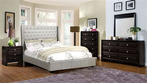 Winsor Bedroom Set w Mira Upholstered Bed Bedroom