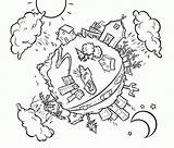 Coloring Pages Water Conservation Saving Save Colouring Gay Adult Popular Graphics Coloringhome Templates Template Related sketch template