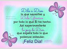 Feliz Día con la Paz de Dios Entre Poemas, Vivencias y