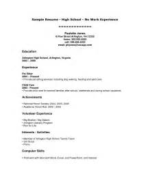 resume for high student pdf no work experience resume best business template