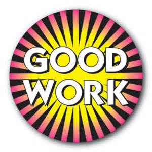 Good Work Stickers