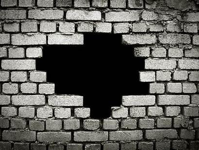 Broken Brick Hole Walls Muro Mural Mattoni