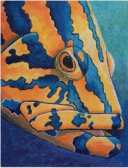 nassau grouper erin nelson designs canvas