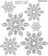 Snow Coloring Pages Snowflakes Colorings sketch template