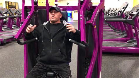 planet fitness incline press machine