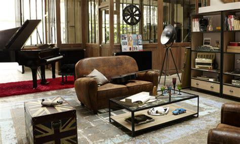 chambre style usine deco salon style usine