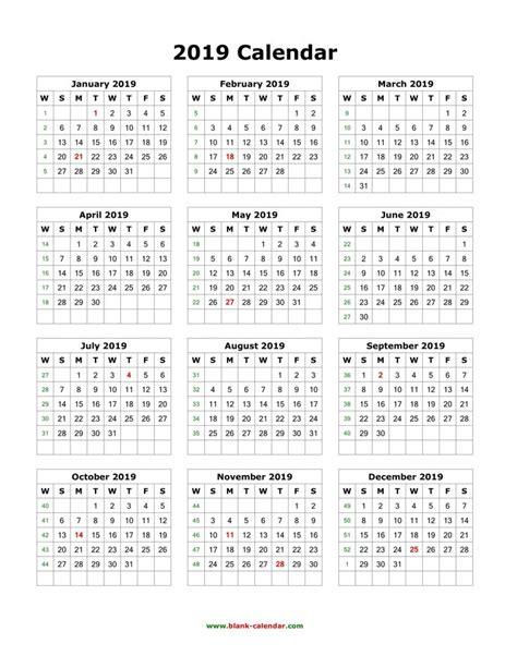 blank  calendar templates printable yearly