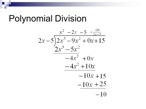 Polynomial Long Division And Synthetic Division  Ppt Video Online Download