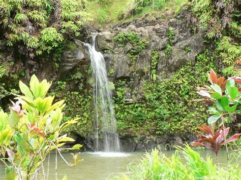 tropical island waterfalls tropical waterfall on maui