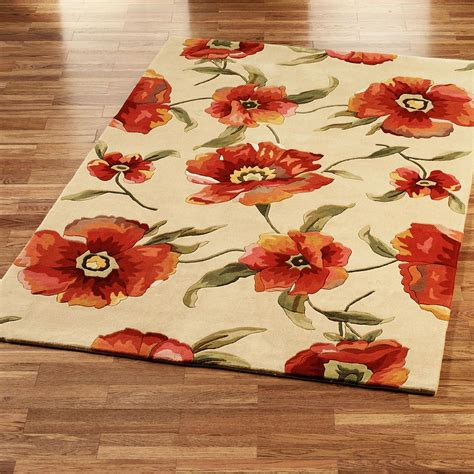 floral area rugs orange floral area rug best decor things