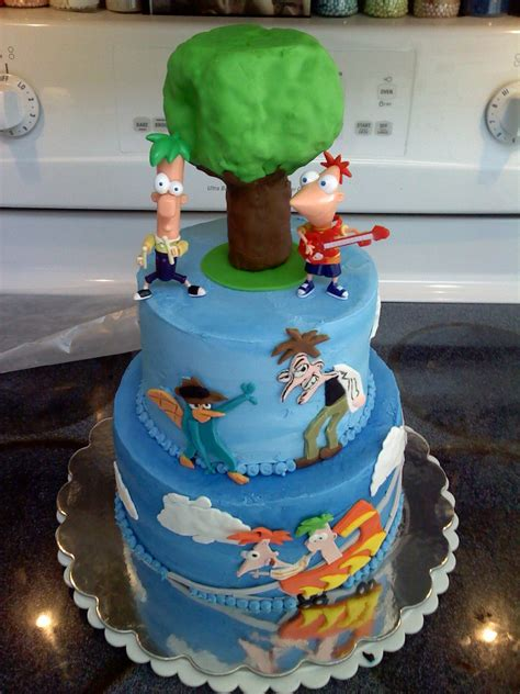 phineas  ferb cakes decoration ideas