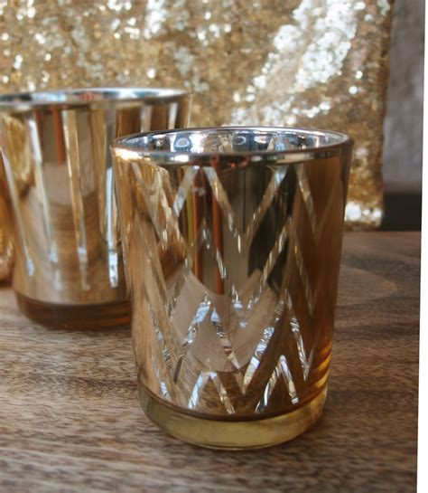 gold votive candle holders chevron votive candle holder gold