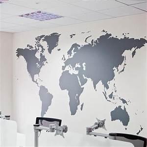 Carte Du Monde Metallique : wereld kaart muur sticker xxl wereldbol poster wereldmap world map ~ Teatrodelosmanantiales.com Idées de Décoration