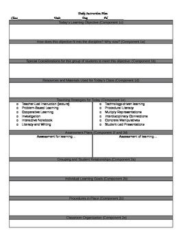 Danielson Lesson Plan Template Doc by Tess Inspired Lesson Plan Template By Everyone S Favorite