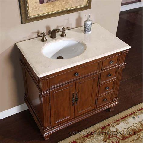 """Bathroom Design 36"""" Caroline Marble Top White Ceramic"""