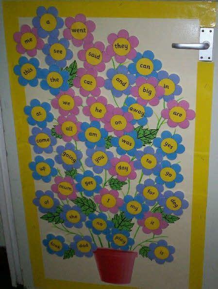flower pot sight words classroom display photo
