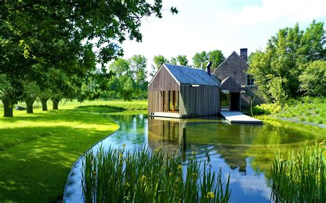 Background House by Wallpapers House And Pond Wallpapers