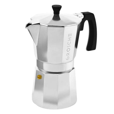 Alessi pulcina stovetop coffee maker is very similar to the bialetti mocha pot. How to use a stovetop espresso maker?   GROSCHE