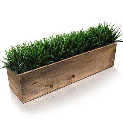 rectangle planter box h 6 quot 24 quot x 6 quot wood rectangle window box planters vase market