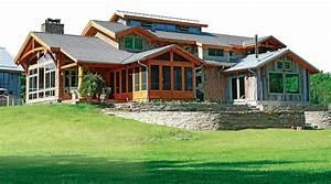 Interesting Timber Frame Home Design Images - Exterior