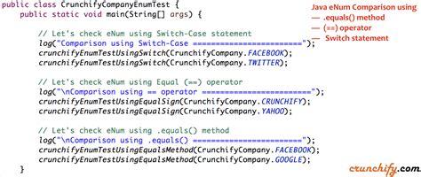 java enum comparison  equals operator switch