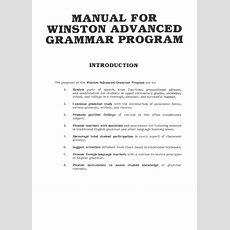 Winston Grammar Advanced