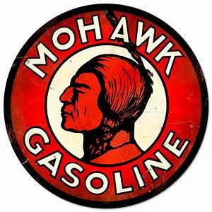 Mohawk Gasoline Vintage Metal Sign