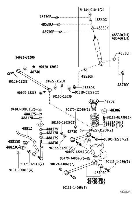 Toyota 4Runner Coil Spring Damper (Rear). Suspension