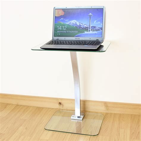 Clear Glass Laptopnotebook Table Desktop Stand Sofa