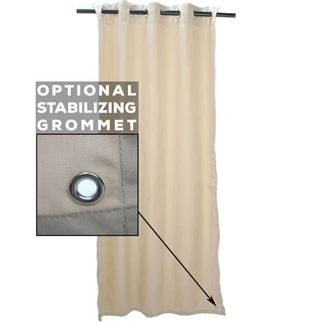 regency sand sunbrella grommeted outdoor curtain on sale