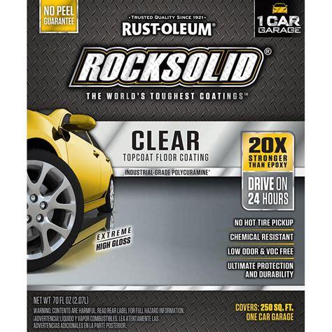 rustoleum garage floor epoxy clear coat rust oleum epoxyshield 1 gal garage floor epoxy