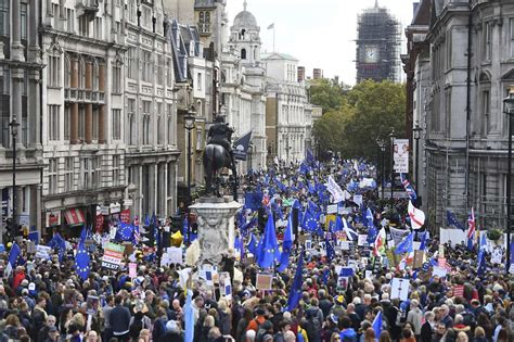britain brexit another vote saga takes turn yet opponents exit amendment lawmakers trafalgar approved union european london through square march