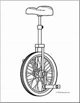 Unicycle Coloring Clip Sketch Abcteach Pages Clipart Paintingvalley Template sketch template