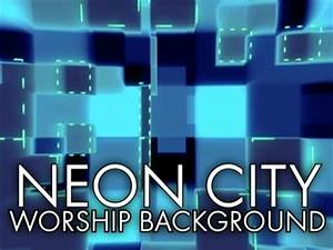 Neon City Worship Background Sermon Gear