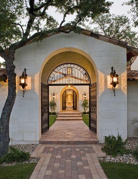 main entrance gate entry mediterranean  spanish wooden front doors mediterranean homes