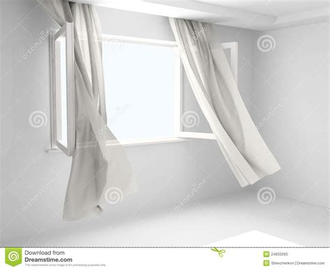 open window with curtains stock illustration image of