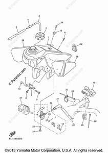 Yamaha Motorcycle 2003 Oem Parts Diagram For Fuel Tank